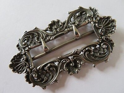 Beautiful Victorian Solid Silver Buckle Hallmarked GH 900