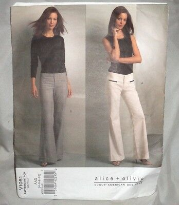 Vogue Alice & Olivia Pattern 1051 ~ Misses Pants ~ Sizes 4 - 6 - 8 - 10 *uncut