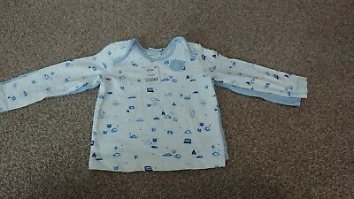 Next Baby Boy Blue and White LongTop Set Size 12-18 Months *BNWT*
