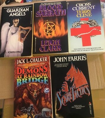 Lot Of Five Horror First Edition Paperbacks ** Lovely Examples