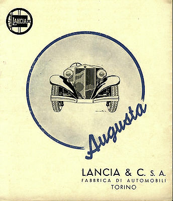 Lancia Augusta & Belna Documentation on CD/DVD Choose ONE of Two for the auction