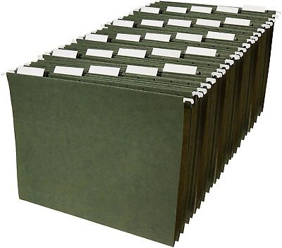 Hanging File Folders - Letter Size, Green, 25-Pack, FREE SHIPPING