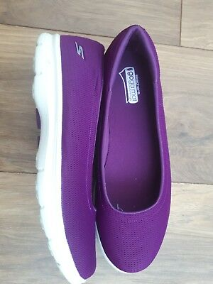 7bf7d70ae2aa Skechers GO Step Luxe Slip On Ballet Pump With Goga Mat Purple Uk 6.5 Eur  39.5