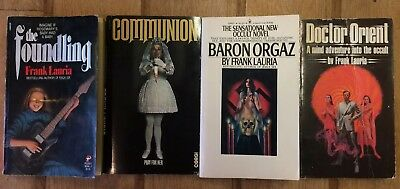 Lot Of 4 FRANK LAURIA Rare Horror First Edition Paperbacks ** Lovely Examples