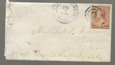 1880's South Yarmouth Mass Cover to Boston