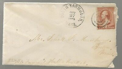 1880's South Yarmouth Mass Cover to Boston 2