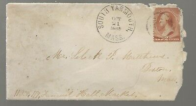1880's South Yarmouth Mass Cover to Boston 3