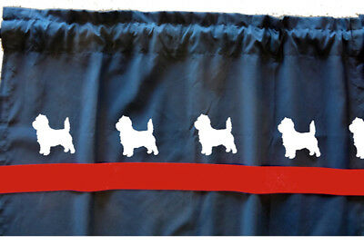 Cairn Terrier Dog WIndow Valance or Shower Curtain Choice of colors