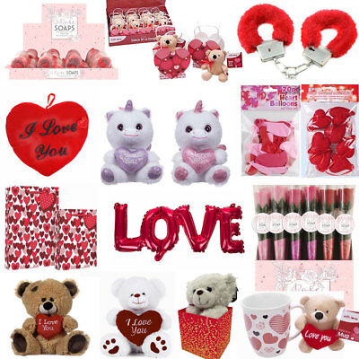 VALENTINES DAY ROMANTIC GIFTS for His Her Love u Heart Cute Bears Valentine Gift