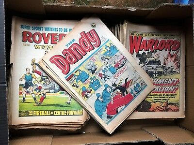 job lot old comics ~ Dandy, Roy of the Rovers, Warlord, Rover & Wizard etc