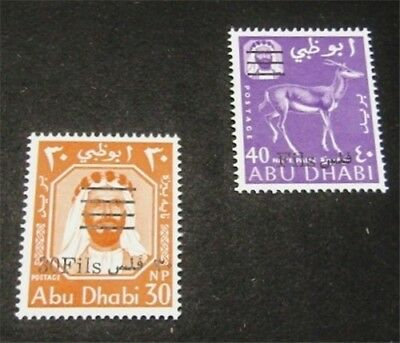 nystamps British Abu Dhabi Stamp # 18.19 Mint OG NH $35