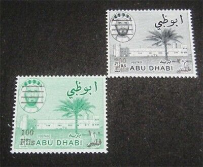 nystamps British Abu Dhabi Stamp # 23.24 Mint OG NH $44