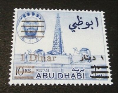 nystamps British Abu Dhabi Stamp # 25 Mint OG NH $70