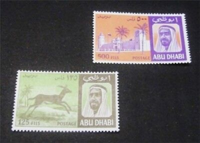 nystamps British Abu Dhabi Stamp # 34.36 Mint OG NH $35