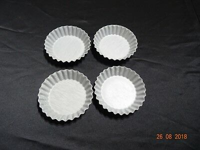 4x Fluted Flan Tins Pie Baking Base Tarte Tray Mould Quiche Bake =unused
