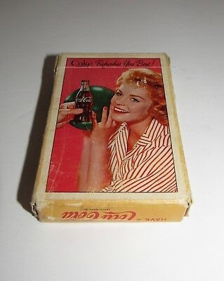 Vintage Coca-Cola Coke Playing Cards in Original Box 52 Cards 2 Jokers