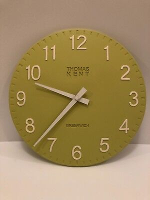 "THOMAS KENT 12"" Camden Lime Green Wall Clock - BRAND NEW"