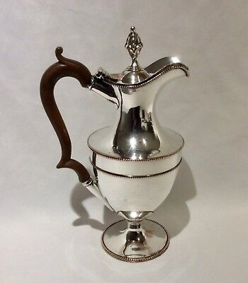 First Period 18th C. GEORGE III Old Sheffield Plate Silver Water/Wine Ewer C1775