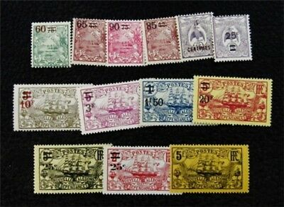 nystamps French New Caledonia Stamp # 116 // 135 Mint OG H $44