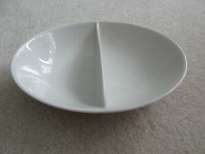 Shenango China Peter Terris Divided Oval Serving Bowl