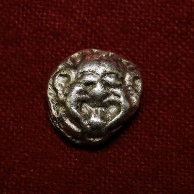 Gorgoneion drachm signed. Mysia Parium. Very rare Ancient Greek coin. Unique.
