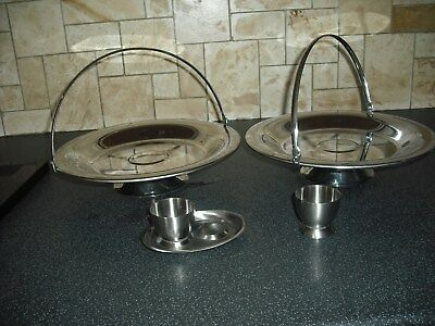 4 Pieces Olde Hall - 2 Swing Handled Dishes and 2 Egg Cups