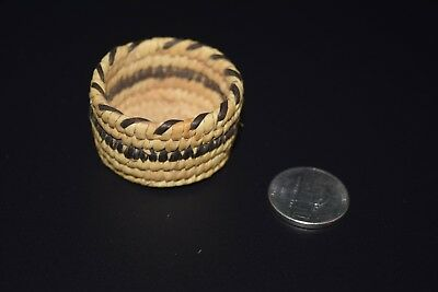 Tohono O'odham Papago Indian Miniature Basket Native American Mini 2