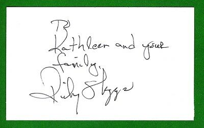 Ricky Skaggs American Country and Blue Grass Singer Signed 3x5 Index Card T2695