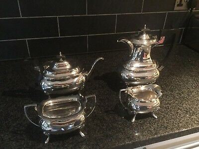 Antique Walker & Hall solid silver tea and coffee set
