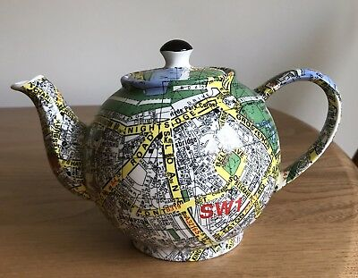 Large Paul Cardew London Ordnance Survey Map Teapot