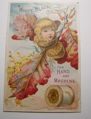 Antique Victorian  J & P. Coats 6 Cord Thread  Advertising Trade Card Sewing