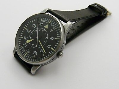 VINTAGE 1980s FORTIS SKY-WATCH OVERSIZE SWISS QUARTZ GENTS PILOTS WATCH GWO
