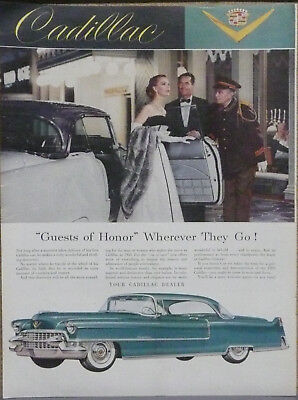 1955 Cadillac Coupe DeVille Print Ad (Green)