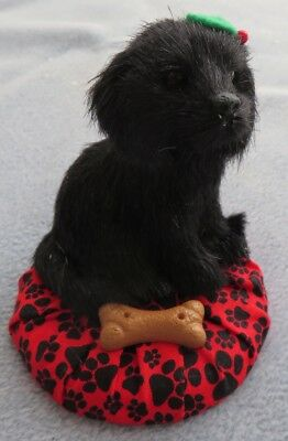 Byers Choice Black Dog in Bed Figurine New w Tags