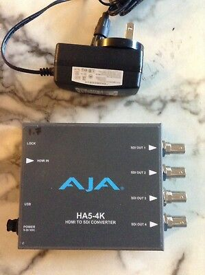 Pre-owned AJA HA5-4K HDMI To SDI Converter