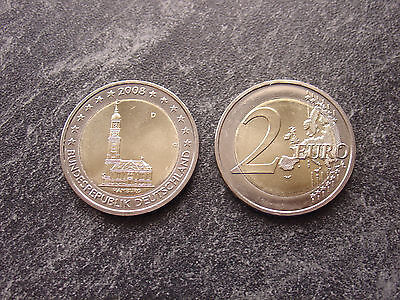 2 Euro Deutschland Hamburger Michel 2008 G