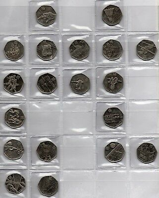 Olympic Games 50 pence coins London 2012