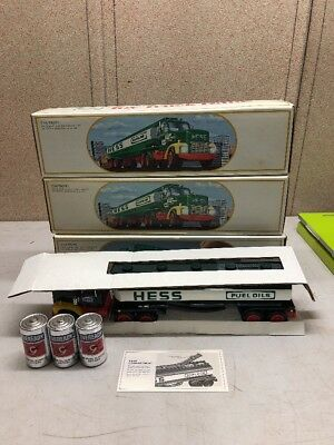 1984 Hess Toy Truck Tanker Bank w/ Box, Lot Of 3, New Old Stock, No Reserve