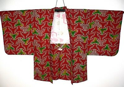 Fabulous Authentic Vintage, Japanese Haori Kimono, Lined Jacket Woven Wool Blend