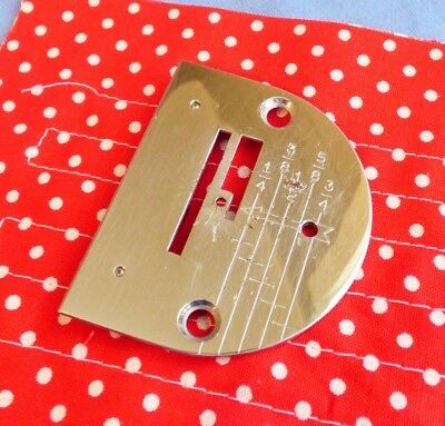 Vintage Singer Model 301 or 301A Graduated Throat Plate (Needle Plate) #1