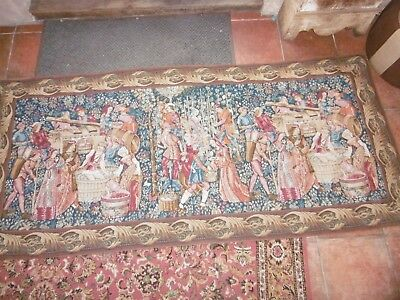 Large comtemporary jacquard reproduction of a medieval tapestry 2m 14cm x 97cmmm