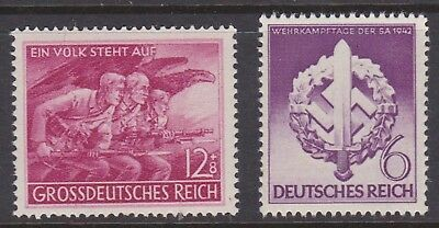 Germany Third Reich nice pair of mint stamps.