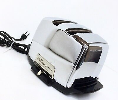 Sunbeam Vista Radiant Control Automatic Toaster VT40-1 Retro Chrome Art Deco USA
