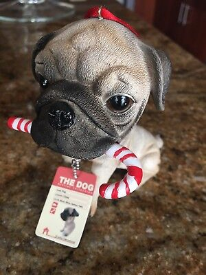 The Dog Artist Collection Christmas Ornament Pug New With tag