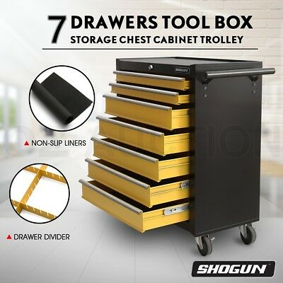 SHOGUN 7 Drawers Tool Box Chest Roller Cabinet Rust Resistant Toolbox Trolley