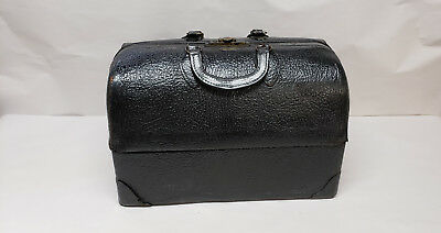 Vintage Antique Emdee By Schell Leather Doctor Bag, NICE!