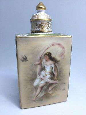 old. Vienna portrait /  Angel double sided Beehive mark Gorgeous jar covered urn