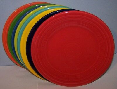New Set Of 8 Fiestaware Mixed Color Luncheon Lunch Plates Fiesta Lot