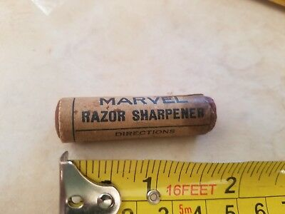 Vintage Marvel Sharpening Stone Paste Knife Straight Razor Blade Tool Hone usa