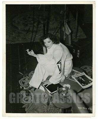 Katharine Hepburn Bringing Up Baby '38 Candid On Set Vintage Original Photograph